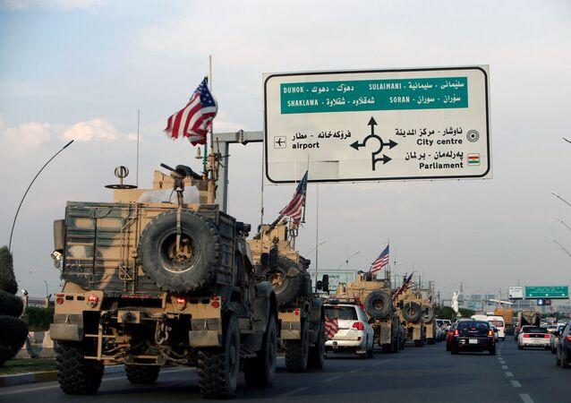 قوات الجيش الأمريكي المنسحبة من شمال سوريا، في اربيل، العراق 21 أكتوبر 2019