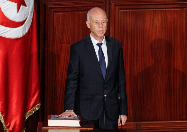 الرئيس التونسي الجديد قيس سعيد