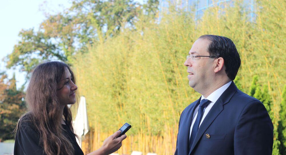لقاء حصري لـسبوتنيك مع رئيس الحكومة التونسية يوسف الشاهد 24 أكتوبر 2019