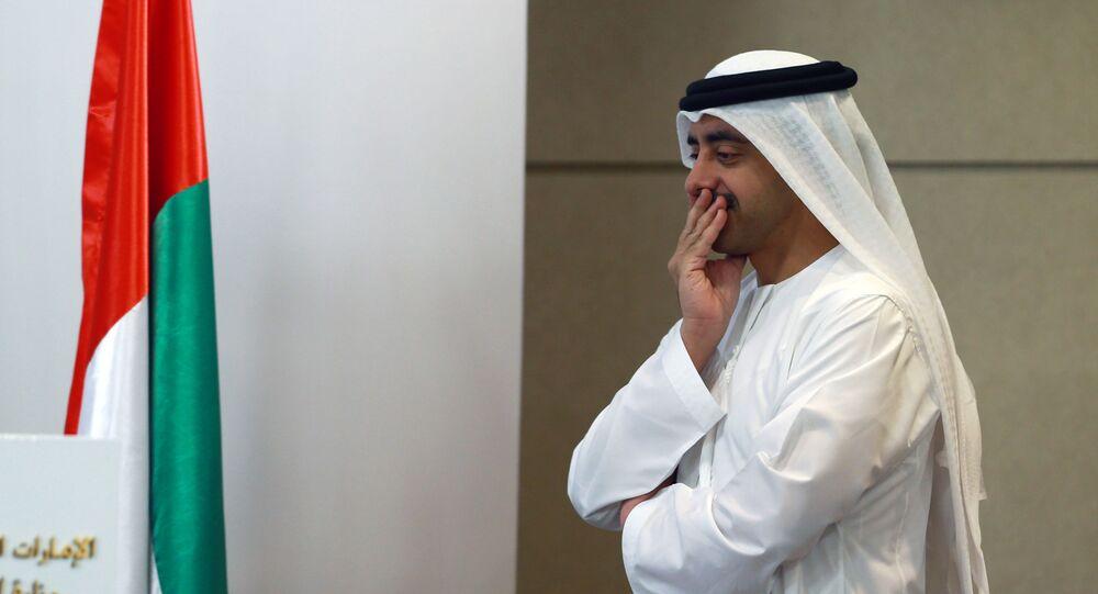 الشيخ عبد الله بن زايد آل نهيان وزير الخارجية والتعاون الدولي في الإمارات