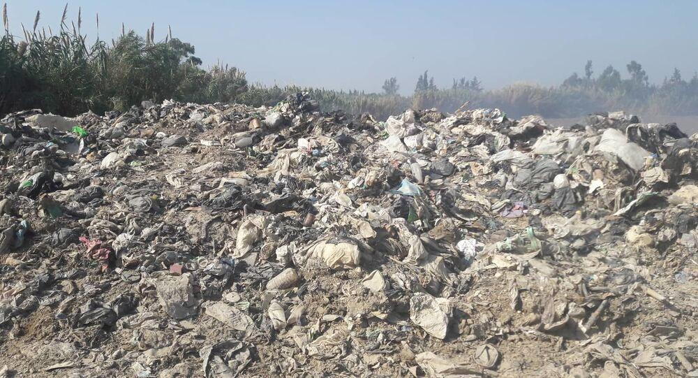 مكب نفايات قرية البصة في الساحل السوري
