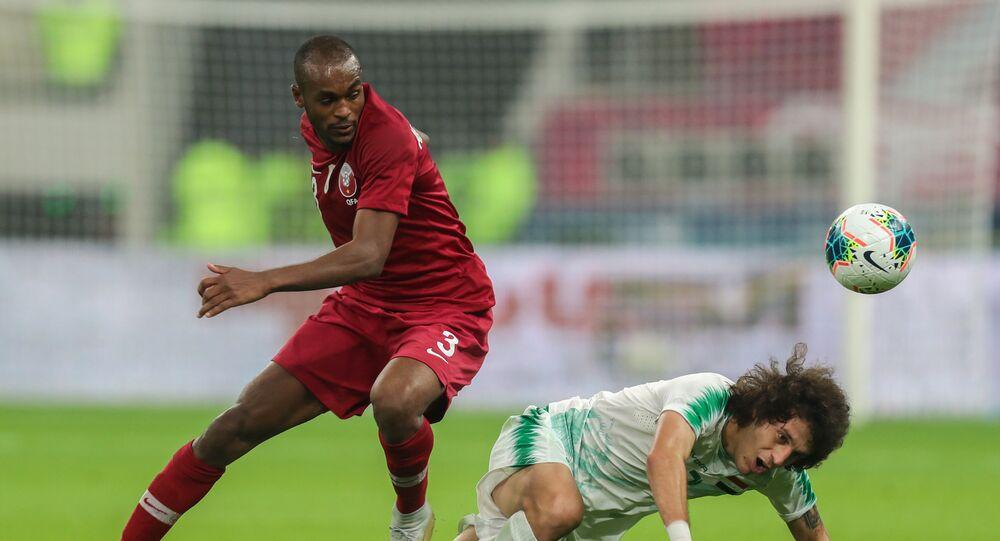 بطولة خليجي 24 - مباراة بين فريقي المنتخب العراقي والقطري في الدوحة، قطر 26 نوفمبر 2019