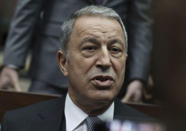 وزير الدفاع التركي، خلوصي أكار نوفمبر 2019
