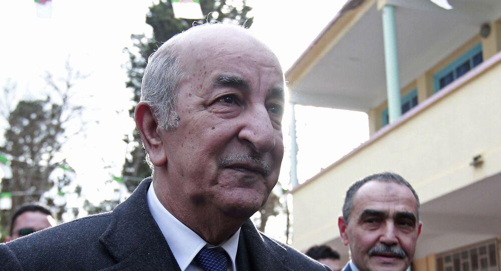 عبد المجيد تبون، الرئيس الجزائري المنتتخب، 12 ديسمبر2019