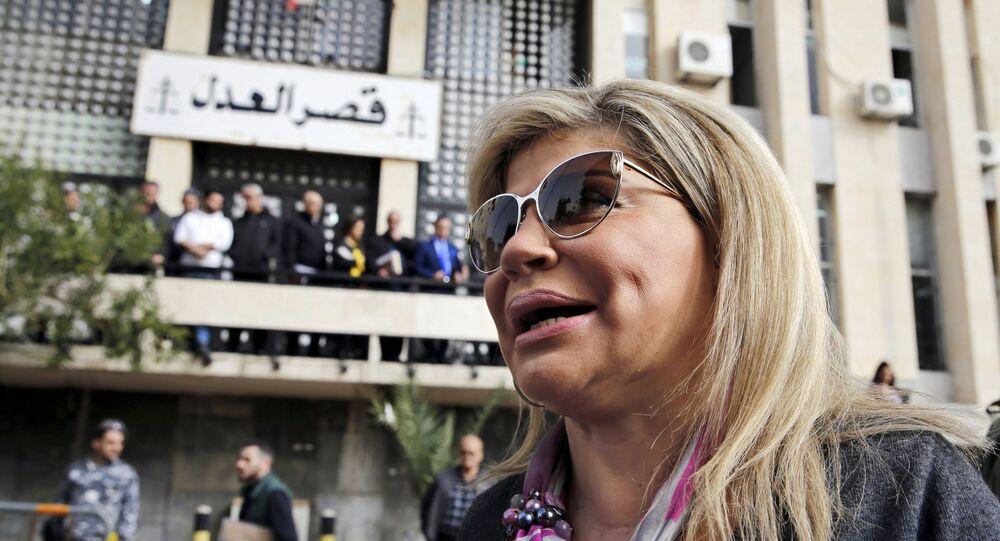 الوزيرة اللبنانية مي شدياق