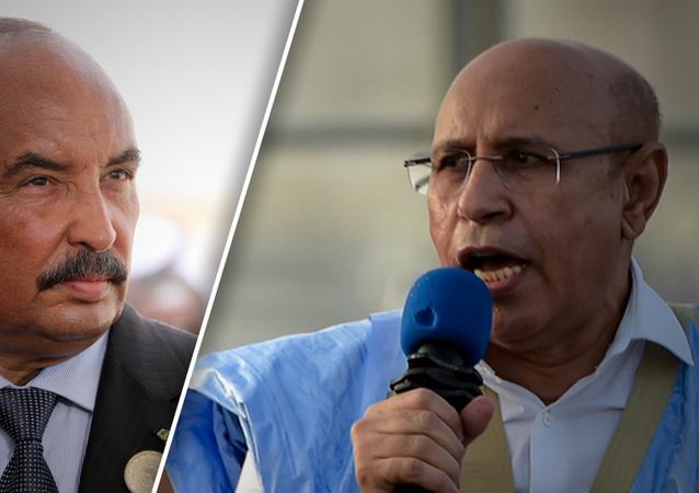 الرئيس الموريتاني الحالي محمد الغزواني والسابق محمد ولد عبد العزيز