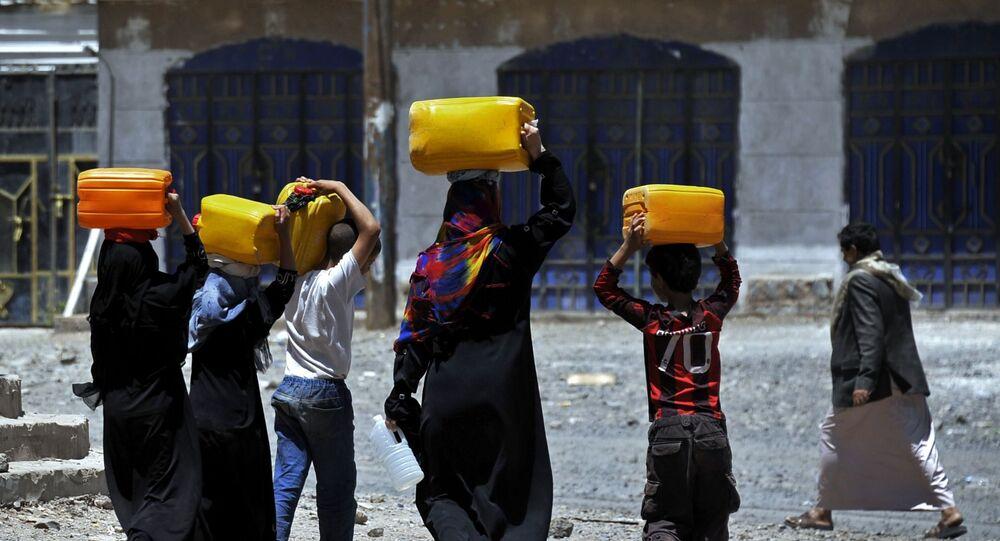 أزمة نقص المياه في اليمن
