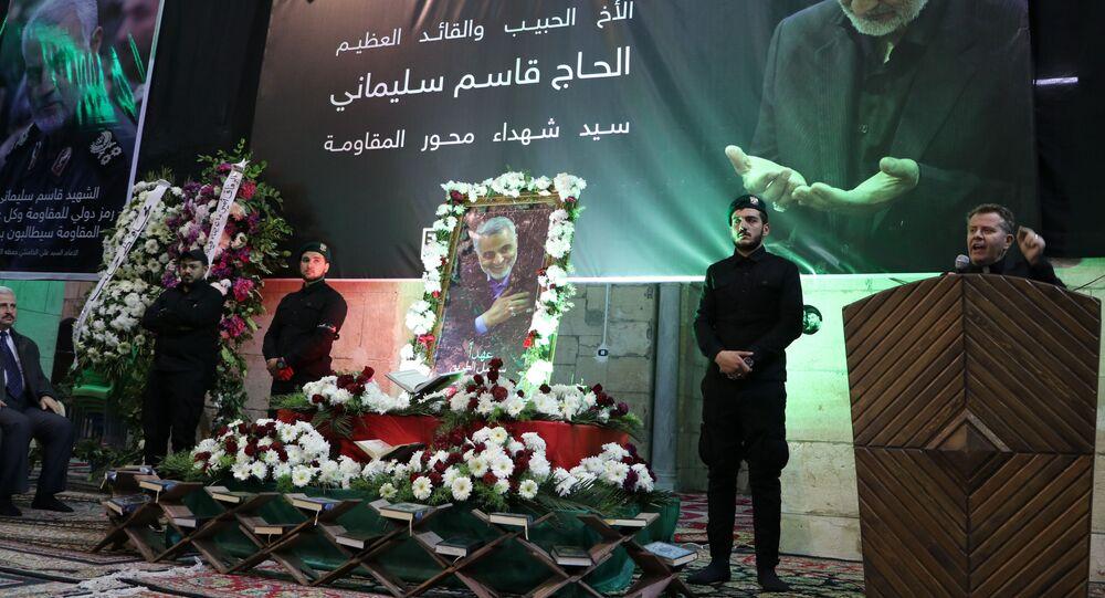 مجلس عزاء للجنرال سليماني في حلب