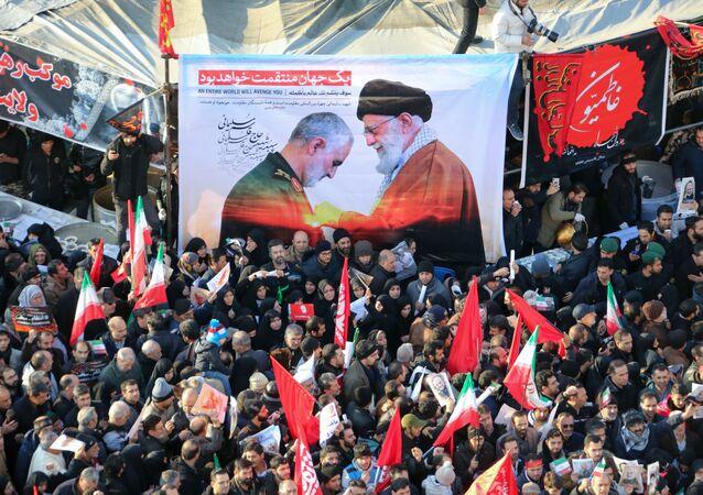 جنازة قائد فيلق القدس قاسم سليماني في العاصمة الإيرانية طهران