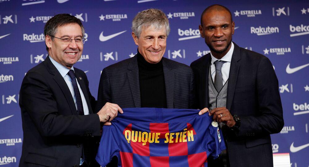 تقديم برشلونة لمدربه الجديد كيكي سيتين