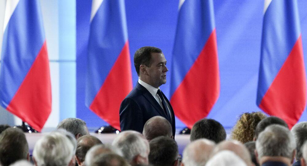 رئيس الحكومة الروسية دميتري ميدفيديف، 15 يناير 2019