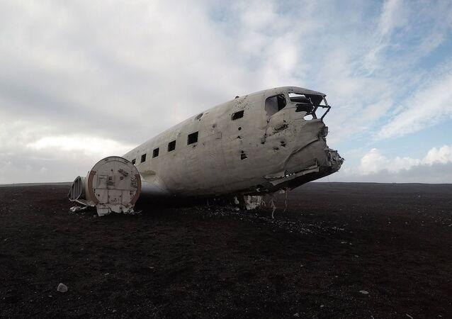 طائرة سولهايماندور في أيسلندا