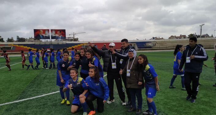سيدات عامودا يفزن ببطولة الدوري السوري