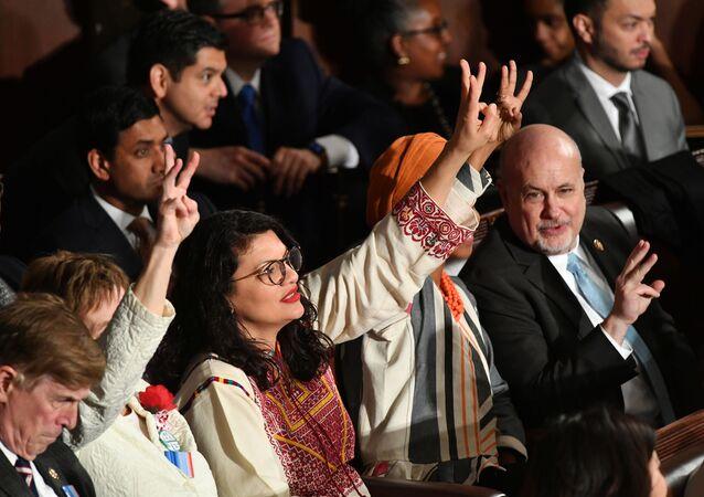 عضو الحزب الديمقراطي في الكونغرس الأمريكي، رشيدة طليب 4 فبراير 2020