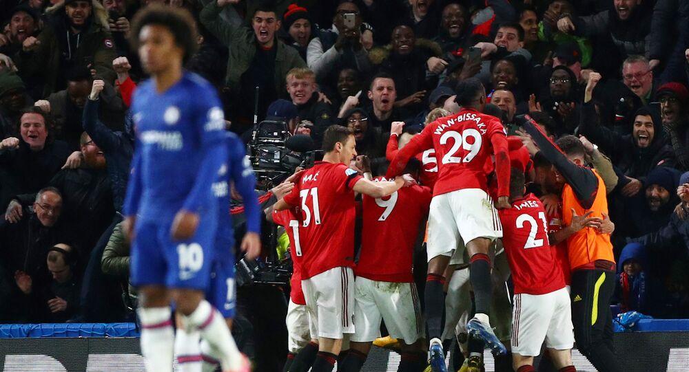 مباراة مانشستر يونايتد وتشيلسي (2-0) في الدوري الإنجليزي