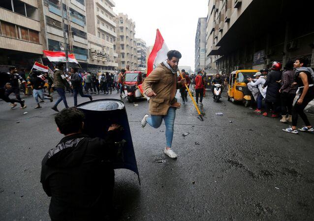 احتجاجات كبيرة في العاصمة العراقية بغداد