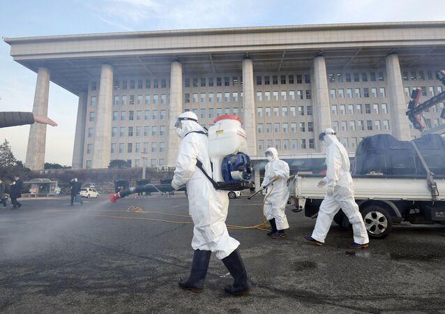 فيروس كورونا - سئول، كوريا الجنوبية فبراير 2020