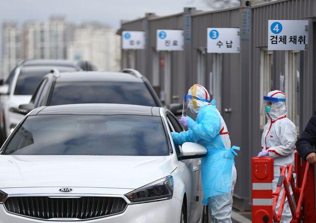 فيروس كورونا - تيغو، كوريا الجنوبية فبراير 2020