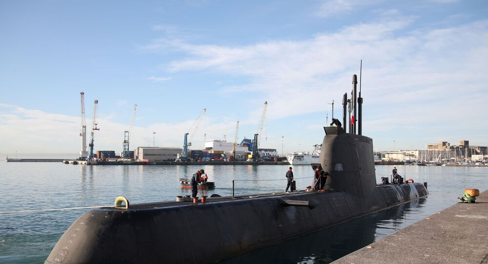 غواصة إيطالية مشاركة في مناورات ديناميك مانتا 20 في البحر المتوسط الخاصة بمقاومة الغواصات بمشاركة 9 دول من حلف الناتو
