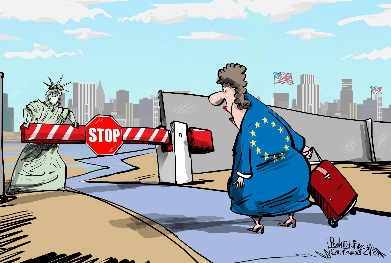 كورونا يمنع السفر بين أوروبا وأمريكا