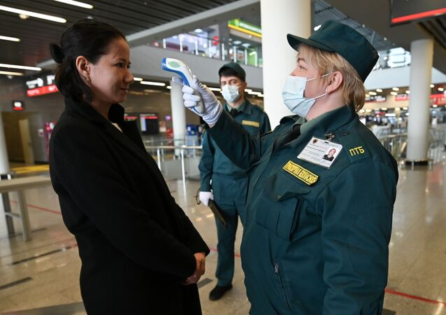 انتشار فيروس كورونا في روسيا - الاجراءات الاحترازية ضد انتشار الفيروس في أدلر، سوتشي، روسيا ١٩ مارس ٢٠٢٠