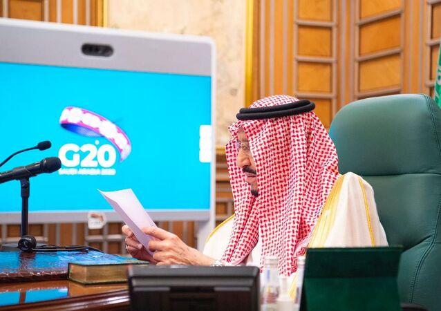 قمة مجموعة العشرين (G20) - الملك السعودي سلمان بن عبد العزيز، 26 مارس  2020
