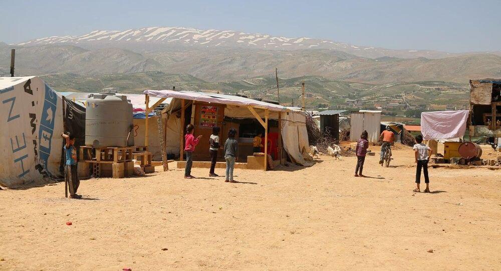 مخيم لاجئين في لبنان