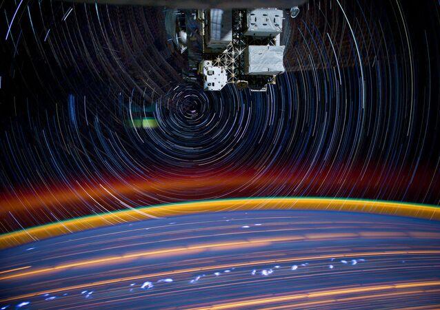 صورة لكوكب الأرض من مربكة الفضاء الدولية