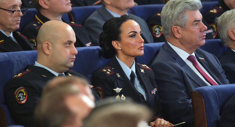 إيرينا فولك، المتحدثة الرسمية باسم وزارة الداخلية الروسية، موسكو 26  فبراير 2020