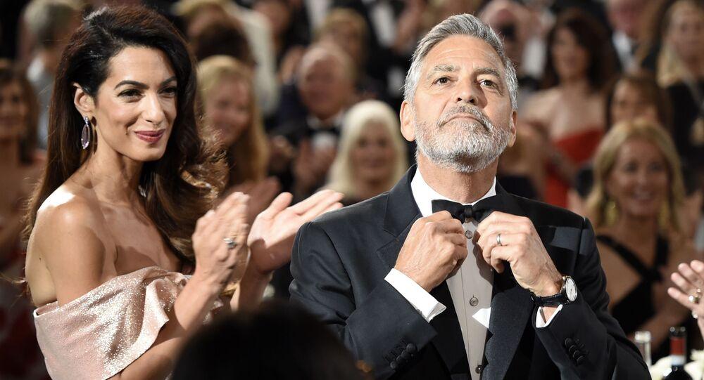 أمل كلوني وجورج كلوني في حفل توزيع جوائز AFI Life Achievement Award  في لوس أنجلوس، 7 يونيو 2018