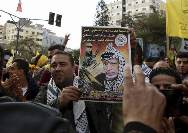 أنصار حركة فتح في قطاع غزة، يناير 2020