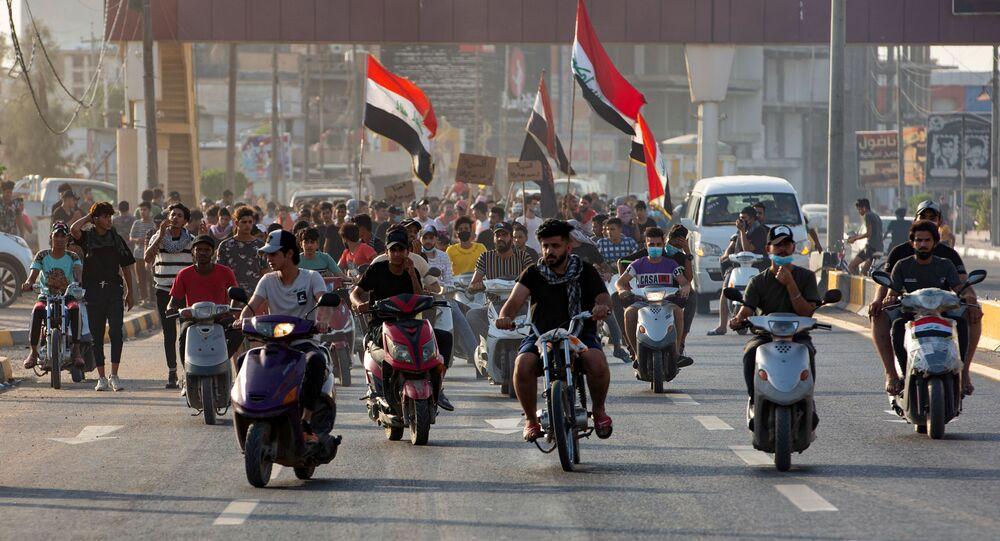 مظاهرات مناهضة للحكومة في مدينة البصرة، العراق يونيو/ حزيران 2020