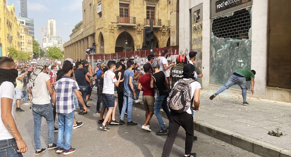 تظاهرات واحتجاجات وسط العاصمة بيروت، لبنان 6 يونيو 2020