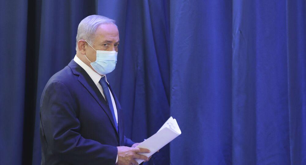 رئيس الوزراء الإسرائيلي بنيامين نتنياهو، المستوطنات، الضفة الغربية، 21 يونيو 2020