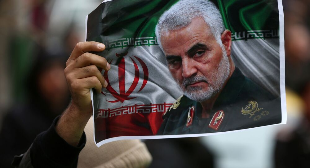 صورة قائد فيلق القدس الجنرال قاسم سليماني، 2020