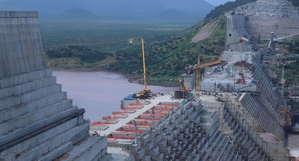 سد النهضة، النيل، إثيوبيا (أرشيف 2019)